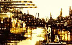 Картины из упаковочного скотча от Макса Зорна (Max Zorn).