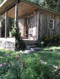 Enjoy your online tour of this rustic tiny cabin in Delhi, New York built by an artist and musician couple.