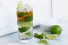 For lovers of lime and ginger beer, there is no cocktail nicer than a dark and stormy. This cocktail goes particularly well with a seafood barbecue.