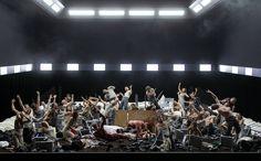 Vienna State Opera's 2013 Idomeneo directed by Damiano Michieletto. Set design by Paolo Fantin.