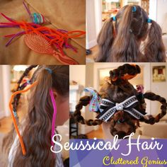 """Creating """"Seussical"""" Hair and Make up Whoville Costumes, Whoville Hair, Seussical Costumes, Whoville Christmas, Christmas Mood, Dr. Seuss, Dr Seuss Who, Wacky Hair Days, Crazy Hair Days"""
