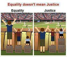 Uguaglianza non significa giustizia