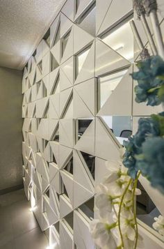 Wall paneling modern tile ideas for 2019 Wall Cladding Interior, Interior Walls, Home Interior, 3d Wandplatten, Partition Design, Glass Partition, 3d Wall Panels, Home And Deco, Wall Treatments