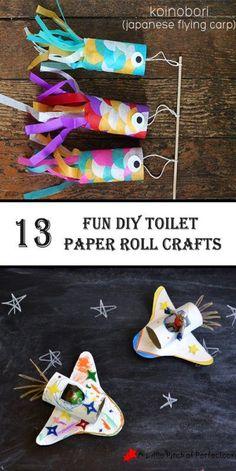 13 fun DIY toilet paper roll crafts – 10 So Peachy 10 diy toilet paper roll crafts - Diy Paper Crafts Toddler Fun, Toddler Crafts, Preschool Crafts, Toddler Activities, Fun Crafts, Cool Diy, Fun Diy, Toilet Paper Roll Crafts, Diy Paper