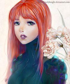 #red, #hair