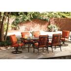 Thomasville Messina 4-Piece Patio Sectional Seating Set with Paprika Cushions-FG-MN4PCSECT-CP at The Home Depot