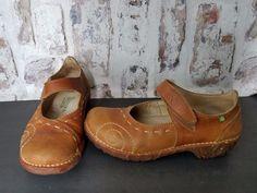 2d9f510f70cc El Naturalista Yggdrasil Clogs Womens US 8.5 Brown Leather Mary Jane Shoes  EU 39  ElNaturalista