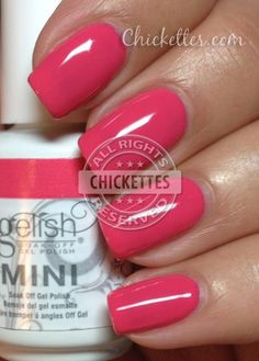 nails.quenalbertini: Gelish 'Passion' Swatch | Chickettes