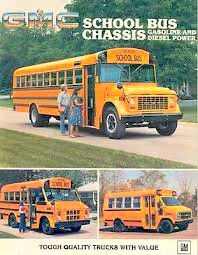Images of Vintage GMC Thomas Built School Buses.
