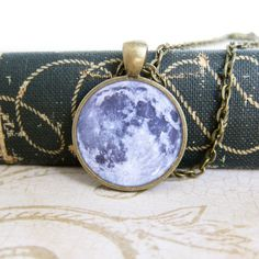 Full+Moon+Necklace+Science+Jewelry+Moon+Jewelry+by+silverthaw,+$19.00