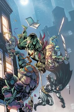 Batman / TMNT Retailer Variant Covers! - IDW Publishing