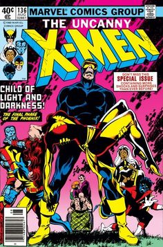 Discovered the #PhoenixSaga when my godfather gave me his comic collection as a kid! (Uncanny X-Men, Vol.1 #136: Cover by John Byrne, Terry Austin, and Jim Novak. August 1980) #XMen
