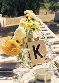 Large Scrabble letters for table numbers
