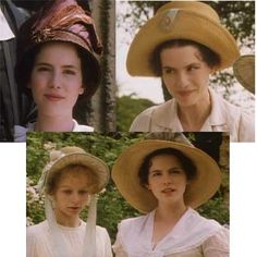 millinery Screen caps from Emma 1996. Costume desing by Jenny Beavan