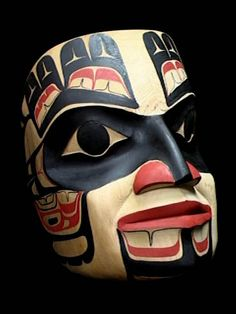 Kwakiutl Ceremonial Mask, A Northwest Coast Native Art Replica