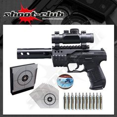 Walther Night Hawk CO2-Pistole Kal. 4,5mm - Komplett-Set