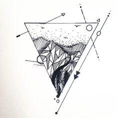 Triangle mountain tattoo design just finished IF ANYONE ELSE GETS THIS TATTOOED PLEASE GOD SHOW ME ID LOVE TO SEE !!