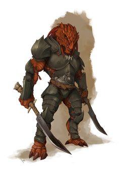 Hombre Dragon Guerrero