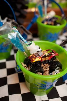 monster truck birthday party | Monster Truck Birthday Party + Dessert Table - Spaceships and Laser ...