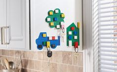 Keychain End the morning search for your keys with these cute key chain holders that you can make yourself.