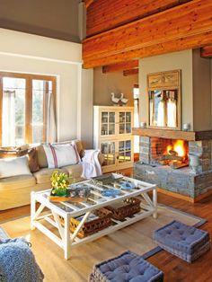 amenajari, interioare, decoratiuni, decor, design interior, rustic, lemn, semineu, living,
