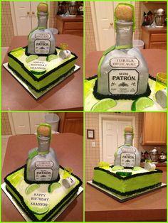 Patron Bottle Lemon Cake  My Most Recent D Cake Here I Share - Patron birthday cake