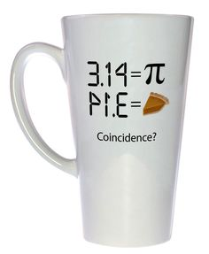 Pi 3.14 - Intergalactic Pi Day Celebration Coffee or Tea Mug, Latte Size