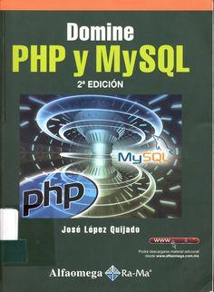 Creación de sitios web con programación dinámica #dominephpymysql #joselopez #alfaomega #rama #paginasweb #basesdedatos #escueladecomerciodesantiago #bibliotecaccs