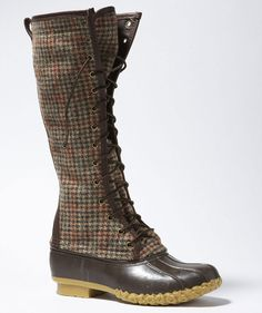 "L.L.Bean Signature Wool Houndstooth 16"" Boot"