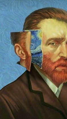 vincent van gogh self portrait - portrait Mode Collage, Art Du Collage, Aesthetic Painting, Aesthetic Art, Aesthetic Outfit, Aesthetic Drawing, Aesthetic Clothes, Aesthetic Vintage, Vincent Van Gogh