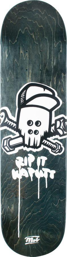 MOB-Skateboards Skull-Logo-Black-Veneer-7.75 - titus-shop.com  #Deck #Skateboard #titus #titusskateshop