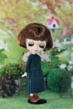 Sweater and skirt for Neo Blythe Azone pure neemo M/S Obitsu