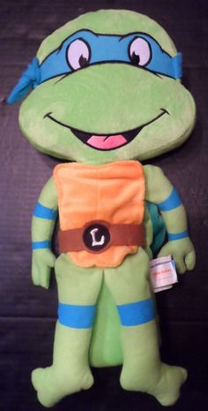 $24.98/Plush Leonardo Teenage Mutant Turtle Stuffed Animal Pillow Toy Seat Pet by Jay @ Play ~~view more plush toys for youth/kids/children as well as over 20 categories of merchandise in my store! I ship globally! www.shellyssweetfinds.com