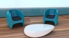Poltroncine APPLE e Tavolino BOULDER by ZAD Italy I design SABINO FERRANTE Architect