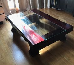 Beautiful Bespoke Oak Railway Sleeper - Coffee Table - Very Heavy #Colonial