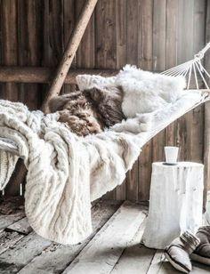 Cosy - home - fur blankets - wood - naturals