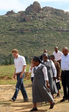 """Prince Harry spent part of his gap year working with orphaned children in Lesotho and was moved by the suffering of the country's youngest, most vulnerable residents. The prince named his charity Sentebale, which means """"Forget Me Not"""" in Sesotho."""