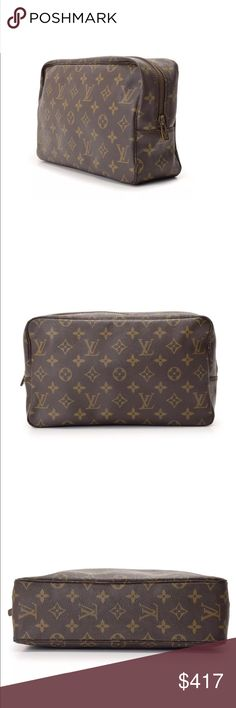Authentic LV Monogram Trousse Toilette 28 Pouch Nice and clean Vintage bag. Edges are in great shape, zipper works perfectly smooth. Overall, it is in great condition 😍 Louis Vuitton Bags Cosmetic Bags & Cases
