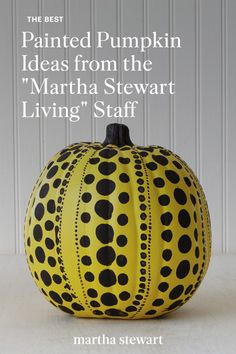 Editors share their favorite easy pumpkin decorating ideas using only paint and are all no-carve solutions. See the full list of these painted pumpkin ideas and how to recreate them for yourself. #marthastewart #halloween #halloweencrafts #diycrafts #halloweencostumes