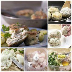 Meeresbrise inklusive: bodenständiger Küstenklassiker – mit einem Hauch Zitrone: Fischfrikadellen – smarter mit Kartoffelsalat | http://eatsmarter.de/rezepte/fischfrikadellen-smarter | http://eatsmarter.de/rezepte/fischfrikadellen-smarter