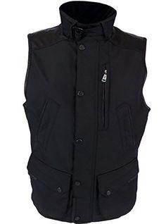 Ralph Lauren Black Label Men's Leather Trim Black Moto Vest (XL) RALPH LAUREN ++ You can get best price to buy this with big discount just for you.++