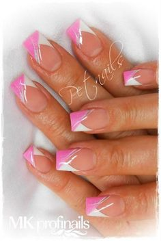 Fotogalerie - MK Profinails - My Style - Ongles Nail Tip Designs, Fingernail Designs, French Nail Designs, Pretty Nail Designs, Pretty Nail Art, Acrylic Nail Designs, Acrylic Nails, French Manicure Nails, French Tip Nails