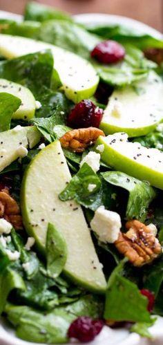 Cranberry Apple Pecan Salad with Creamy Poppyseed Dressing