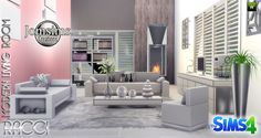 Sims 4 CC's - The Best: Racci Living Room Set by JomSims