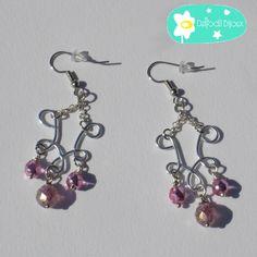 Marble Handmade Earrings by Daffodil Bijoux