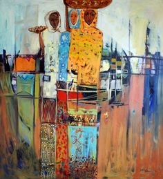 concrete and abstract at the same time. love it. By Ethiopian artist Debebe Tesfaye