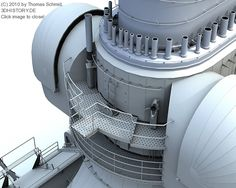 German Battleship Bismarck in 3D.