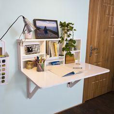 FWT07-W, Table murale rabattables, Table de cuisine pliante, Table à rabat pour enfant pliable, L 90cm x P 60cm, Blanc: Amazon.fr: Cuisine & Maison