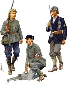 """Freikorps In Munich and Upper Silesia Volunteer, Selbstschutz Oberschlesien; Upper Silesia, May 1921 """" Typical of the many 'Self Defence' organizations which sprang up among the German communities in..."""