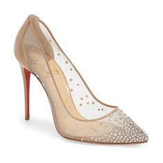 CHRISTIAN LOUBOUTIN follies strass pointy toe pump found on Nudevotion